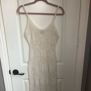 H&M Divided Boho Crochet Midi Dress NWOT